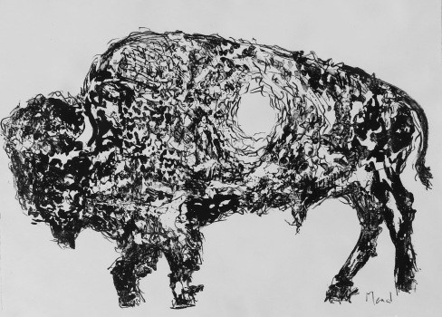 Bison, 2107 Prontoplate Lithgraph 22 x 30