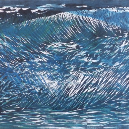 Ocean Thunder Series, 2018 22x30 Woodblock Reduction
